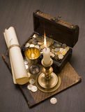 Vintage objects. Still life of vintage objects with candle Royalty Free Stock Photos