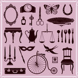Vintage Objects And Icons Set 2 Stock Photos
