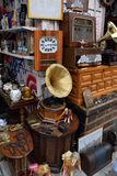 Vintage objects antiques shop Royalty Free Stock Photos