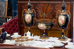 Vintage Objects At Antique Market Royalty Free Stock Photography
