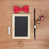 Vintage objects collection. Festive background Stock Photos