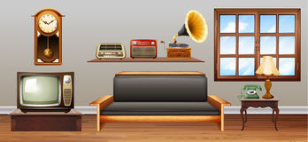 Vintage objects in the living room Stock Photography