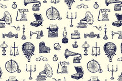 Vintage objects pattern Royalty Free Stock Photography