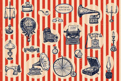 Vintage objects set Royalty Free Stock Image