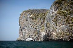 Vintage Ocean cliff Stock Image