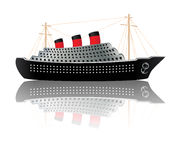 Vintage Ocean Liner Royalty Free Stock Photography