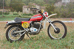 Vintage off road motorcycle KTM. A vintage off road motorcycle KTM at motorcycle cross-country rally La Mugiana de mutor on August 26, 2012 in Modigliana (FC) Royalty Free Stock Photo