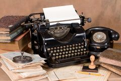 Vintage office desk Royalty Free Stock Photography