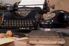 Vintage office desk Royalty Free Stock Images