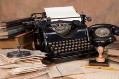 Vintage office desk Royalty Free Stock Photo