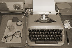 Vintage office equipment Royalty Free Stock Photography