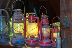 Vintage oil lanterns Stock Images