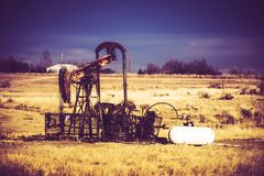 Vintage Oil Pump Stock Photography
