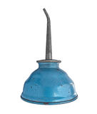 Vintage oiler can. Over white, clipping path stock photo