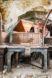 Vintage old abandoned winery Royalty Free Stock Images