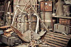 Vintage old anchor Stock Photos