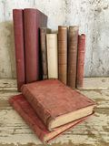 Vintage old antique books royalty free stock photos