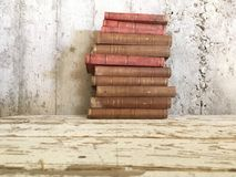 Vintage old antique books stock photography