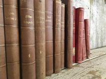 Vintage old antique books stock image