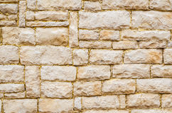 Vintage old antique brick wall backgrounds Royalty Free Stock Photography