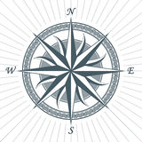 Vintage old antique wind rose nautical compass sign label emblem Royalty Free Stock Image
