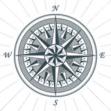 Vintage old antique wind rose nautical compass sign label emblem Royalty Free Stock Photo