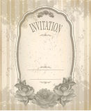 Vintage old background with roses Royalty Free Stock Photography