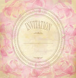 Vintage old background with roses on a faded paper Stock Photography