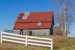 Vintage Old Barn in Meadow Royalty Free Stock Photography