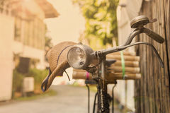 Vintage Old bicycle Royalty Free Stock Photos