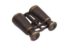 Vintage old binoculars Royalty Free Stock Photos