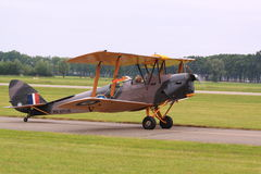 Vintage old biplane model Stock Photography