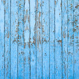Vintage Old Blue Wooden Wall Background. Royalty Free Stock Photos