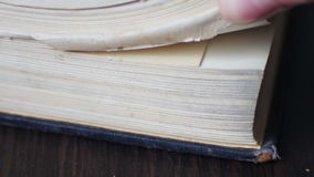Vintage old book with antique pages turning stock video footage