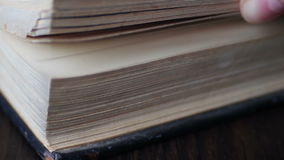 Vintage old book with antique pages turning stock footage