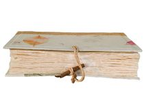 Vintage old book with wooden clasp Stock Image