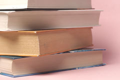 Vintage old books onon  light background Stock Photos