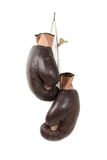 Vintage old boxing gloves Royalty Free Stock Photos