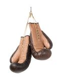 Vintage old boxing gloves Royalty Free Stock Images