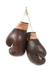 Vintage old boxing gloves Stock Images