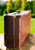 Vintage old brown suitcase Royalty Free Stock Image
