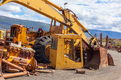 Vintage old bulldozers Royalty Free Stock Photography