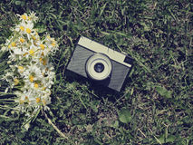 Vintage old camera Stock Images