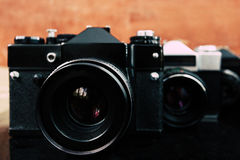 Vintage old cameras Royalty Free Stock Image