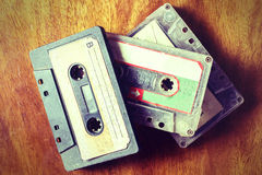 Vintage old cassette tape Royalty Free Stock Photos