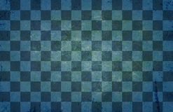 Vintage old chessboard texture - Retro Chess pattern - Bluish green vintage background. Abstract vintage style old chessboard texture - Retro Chess pattern Stock Photography