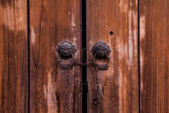 Vintage Old chinese door. Stock Photography