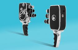 Vintage old cinema camera 8mm Royalty Free Stock Photography