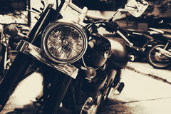 Vintage old classic motorcycles Royalty Free Stock Images