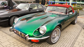Vintage Old Classic Sports Cars Jaguar E-Type Stock Image